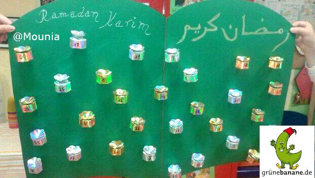 Ramadankalender mit kleinen Päckchen