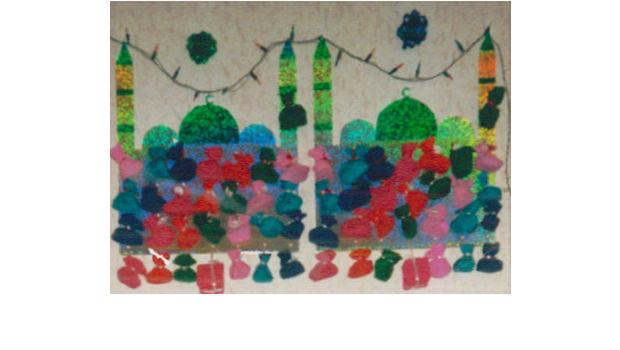 Nasiras Kalender sieht schon fast ein wenig feenhaft aus mit den transparenten Farben
