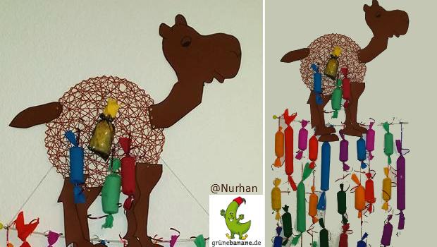 Ramadankalender mit Kamelmotiv zum Aufhängen