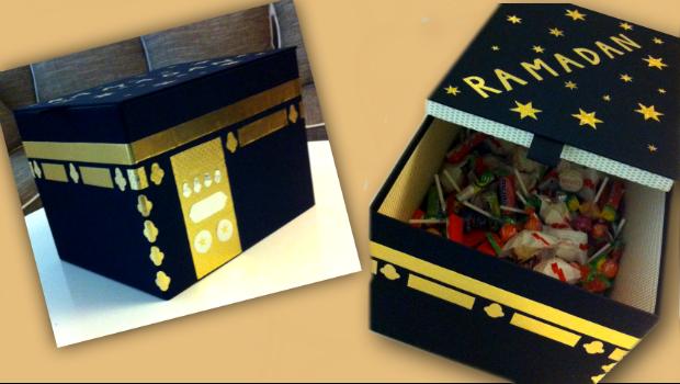 eine IKEA-Kiste als Ramadankalenderkiste