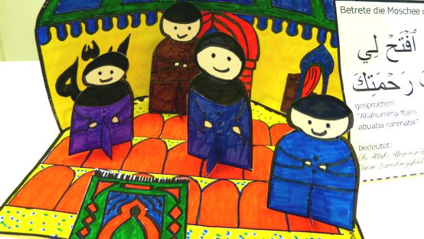 Moschee-Dua-Gebet-Diorama