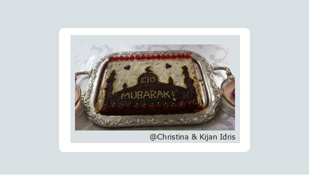 Festkuchen mit Moschee Motiv