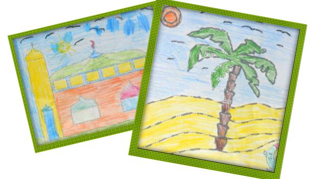 nadel-nahbild-palme-moschee-handarbeit