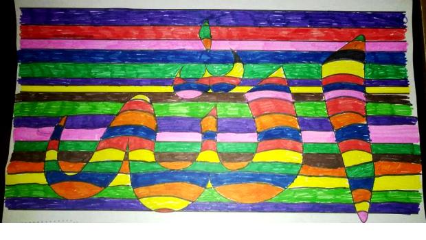 Kalligrafie von Abdulkerim (10J)