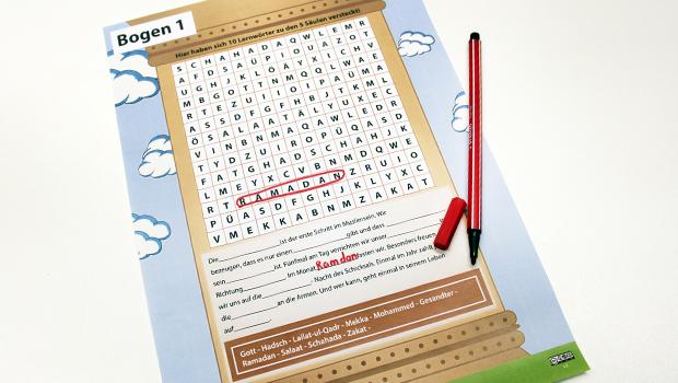 Buchstabensalat-Rätsel-5_Säulen-Islam