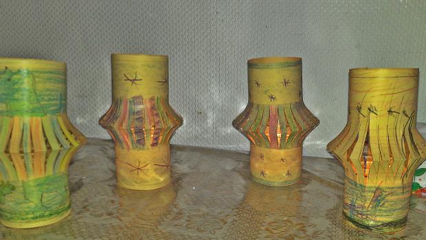 gelbe Laternen von Yasmina, Sara und Saffiyya