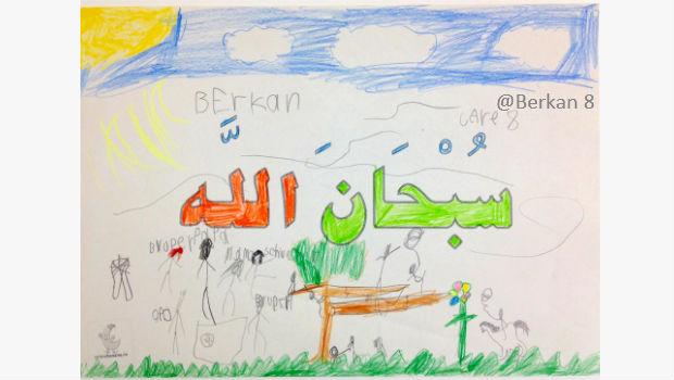 Ausmalbild Berkan 8 subhanallah Islam