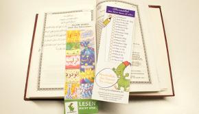Koranlesezeichen zum Üben der Suren
