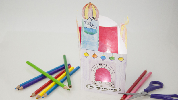 Eine beleuchtete Moschee nach Hause holen