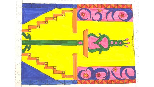 Der Teppich von Selin(11 Jahre) bildet den Rahmen zum Poster