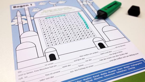 Wörtersuche-Moschee