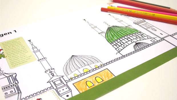 Prophet-moschee-medina-mohammed-ausmalbild