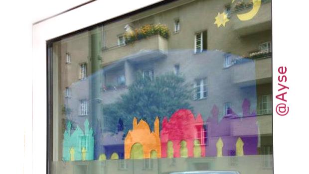 Moschee Fensterdekoration Ramadan