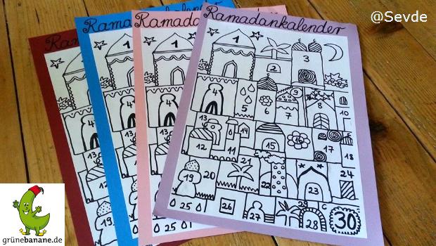 Ramadan Kalender zum Ausmalen