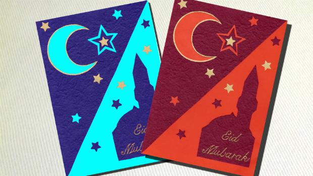 Karten selber basteln zum Eid, Bayram