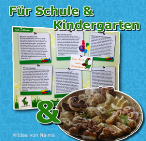 Geschenk zum Mitnehmen in Schule Kindergarten zum Ramadan Fest