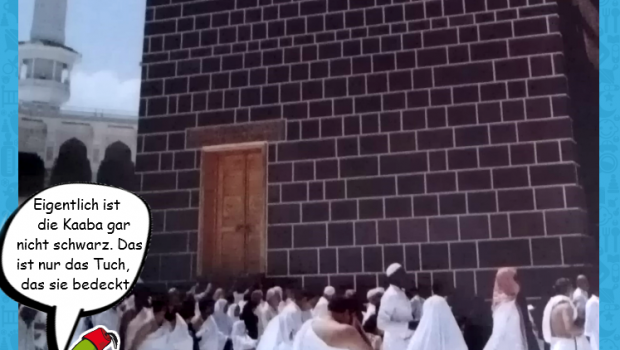 So sieht die Kaaba ohne ihr schwarzes Tuch aus