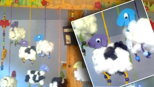 Watteschaf Geschenke Schafe zum Opferfest für Kinder, die zu Besuch kommen.