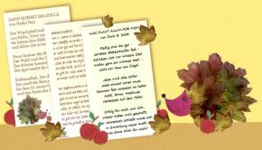 3 islamische Kindergedichte zum Thema Herbst und Allah