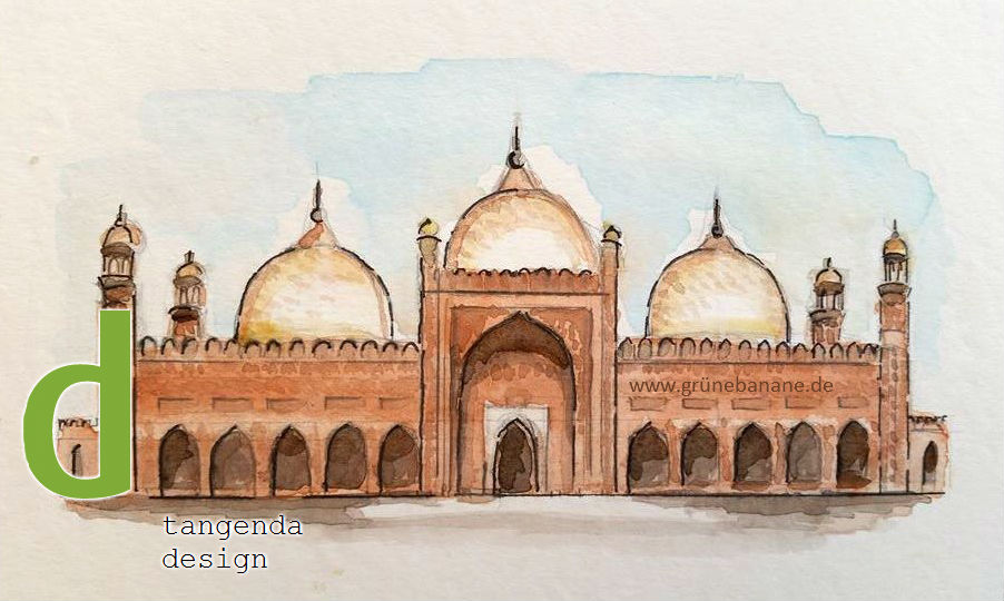eine der Moscheen aus Pakistan, die in unserem Kartenspiel dabei sein werden