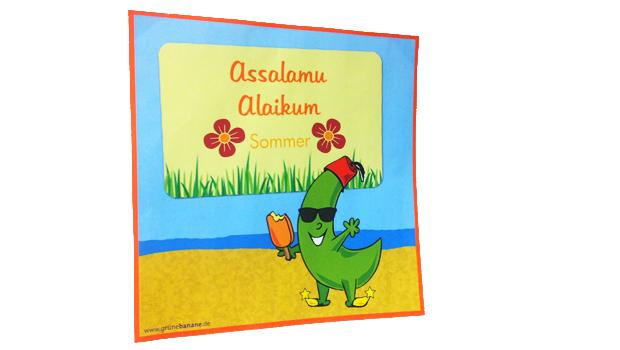 Willkommen, begrüße Deine Gäste mit Assalamu aleikum an der Tür mit diesem sommerlichen Schild