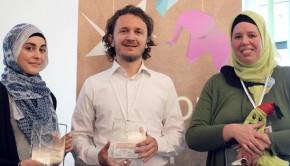 Foto der Gewinner des Rookie Zahnräder Preises 2015 Quelle: Lulja Shaqartli