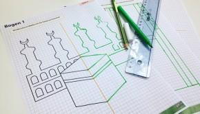 Rätselbilder um Spiegelachsen und Symmetrie zu üben - für den Mathematik- und Islamunterricht