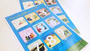 Alle Zahlen von 1 bis 9 als Poster zum Aufhängen oder als Geschenk für die Schultüte